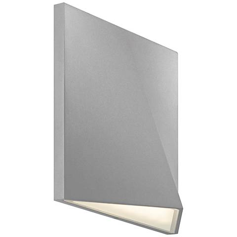 "Ridgeline 7 1/2""H Textured Gray LED Outdoor Wall Light"