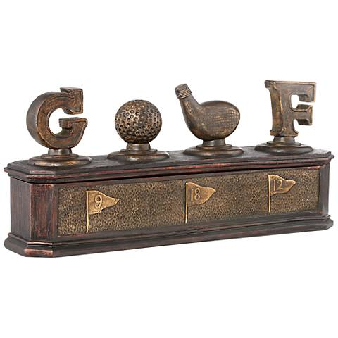 Malvern Bronze Golf Decorative Box