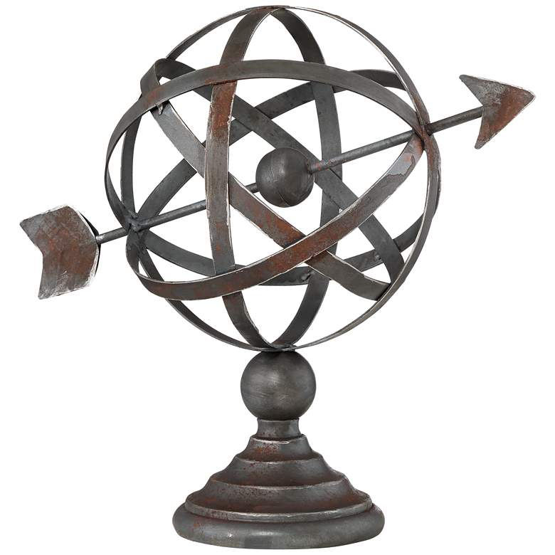 "Atom with Arrow 12 1/4"" High Decorative Accent"