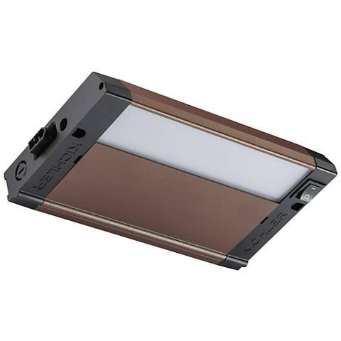 "Kichler 4U 8"" Wide Textured Bronze LED Under Cabinet Light"