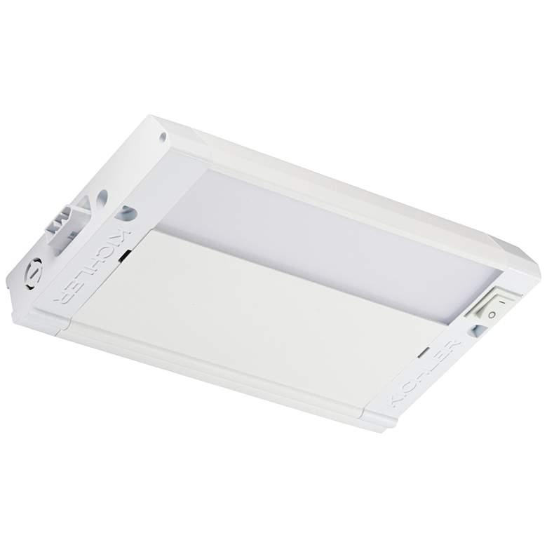 "Kichler 4U 8"" Wide Textured White LED Under Cabinet Light"