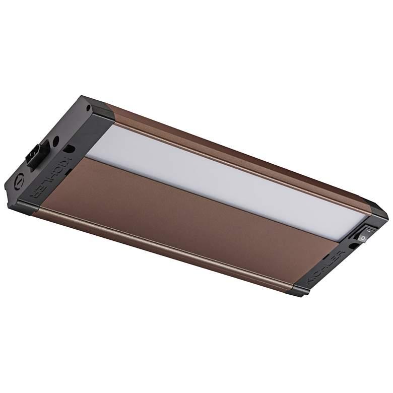 """Kichler 4U 12"""" Wide Textured Bronze LED Under"""