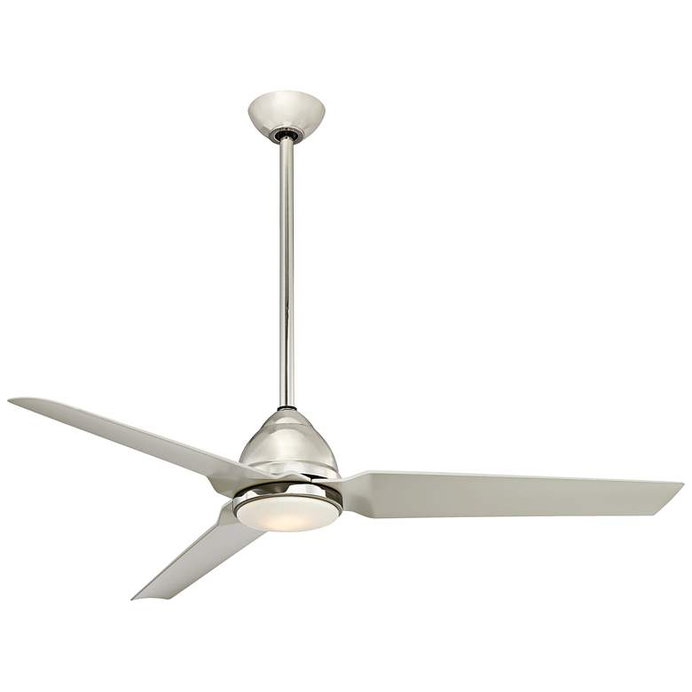 "54"" Minka Aire Java Polished Nickel LED Ceiling Fan"