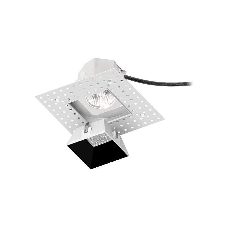"""WAC Aether 3 1/2"""" Square Black LED Trimless Downlight"""