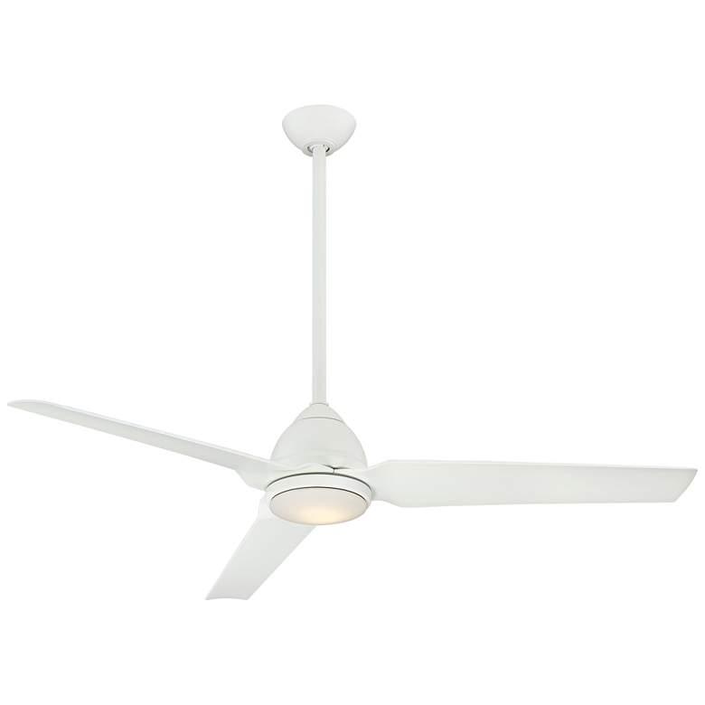"54"" Minka Aire Java Flat White LED Ceiling Fan"