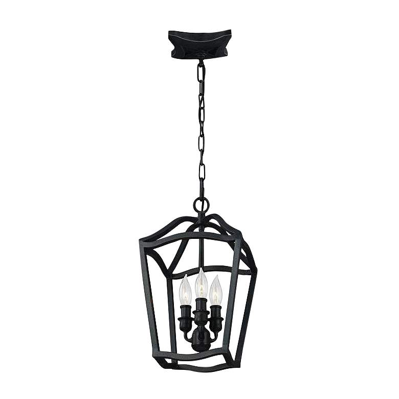 """Feiss Yarmouth 8 1/2""""W Antique Forged Iron 3-Light Foyer Pendant Light"""