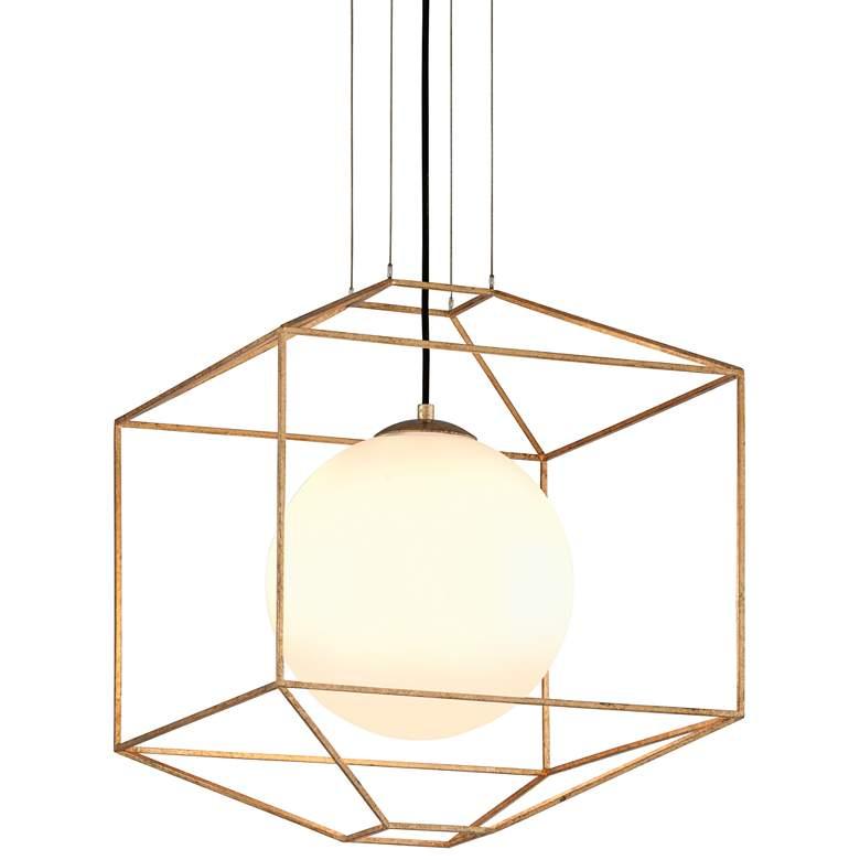 "Troy Lighting Silhouette 18"" Wide Gold Leaf Pendant Light"