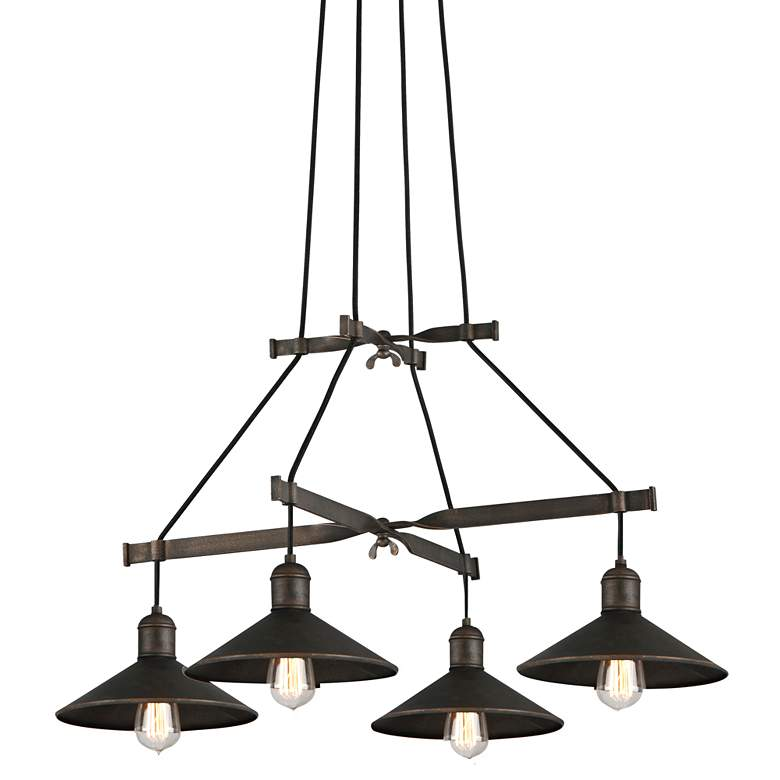 """Troy Lighting McCoy 34"""" Wide Vintage Bronze Pendant Light"""