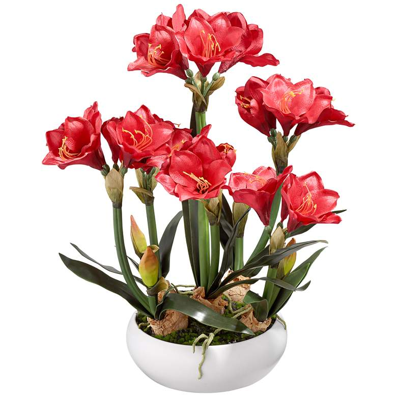 "Kafir Lily 25"" High Silk Potted Plant"
