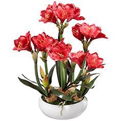 "Kafir Lily 25"" High Silk Potted Plant"