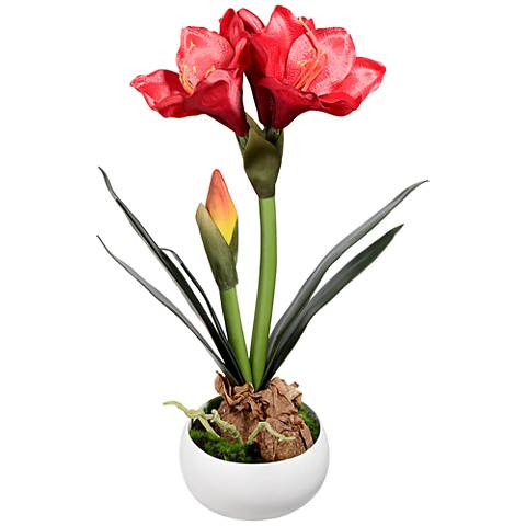 "Kafir Lily 17"" High Silk Potted Plant"