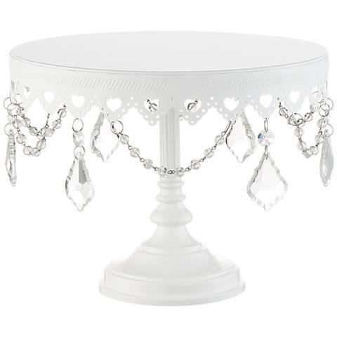 Single Tier Glass Cake Stand