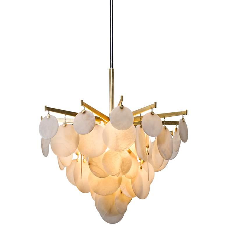 "Corbett Serenity 34"" Wide Gold Leaf LED Chandelier"