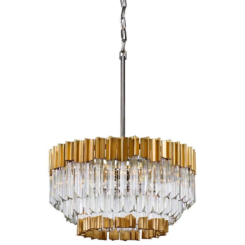 "Corbett Charisma 20"" Wide Gold Leaf Pendant Light"