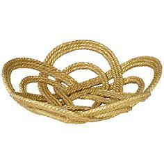 Large Gold Leaf Rope Bowl