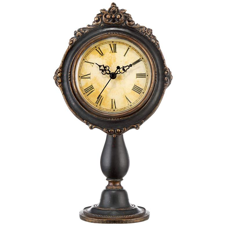 """Dailey 11 1/4"""" High Vintage Traditional Table Clock"""