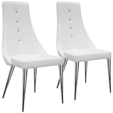 Palacio White Faux Leather Dining Chair Set of 2