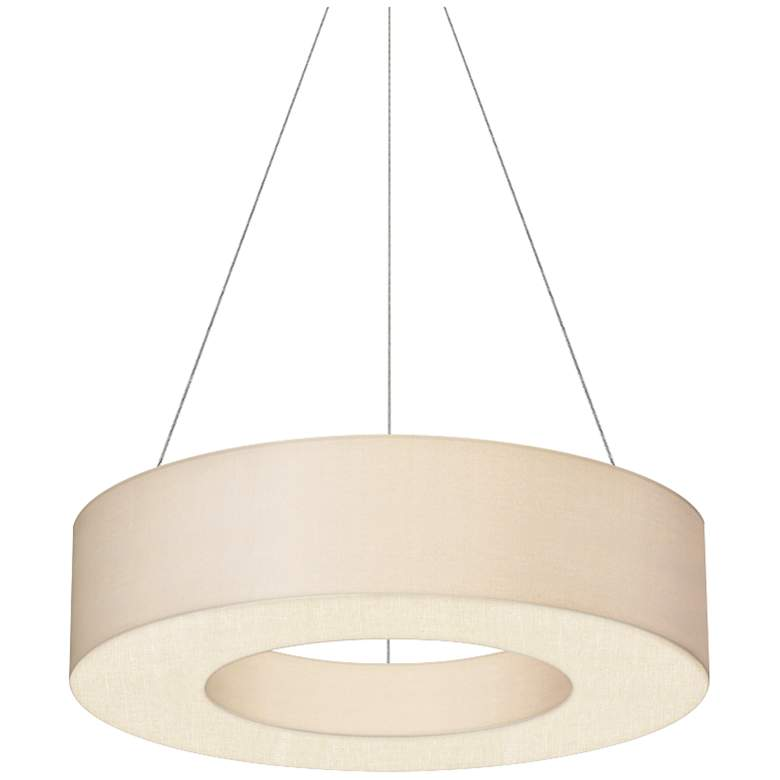 "Sonneman Ring Shade 22""W Satin White LED Pendant Light"
