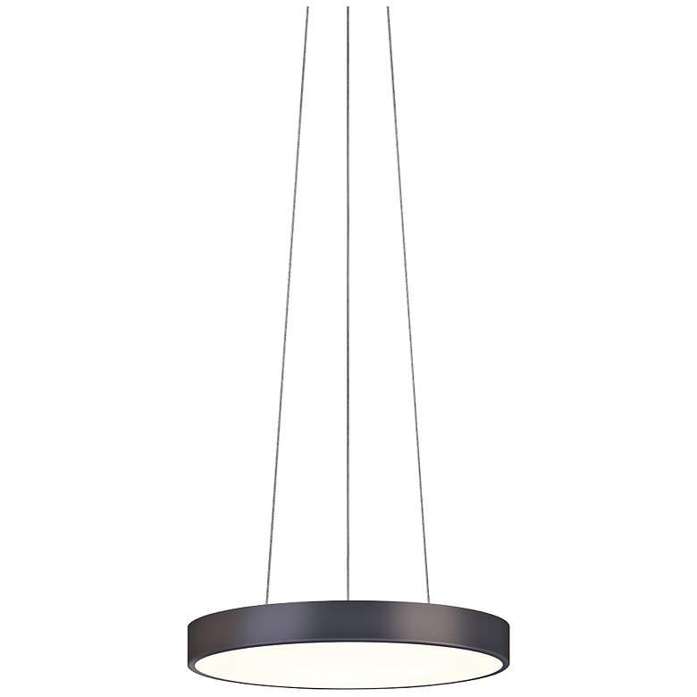 """Sonneman Pi 16"""" Wide Black Bronze Modern LED Pendant Light"""