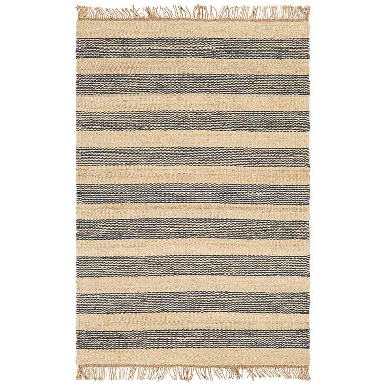 "Surya Davidson Navy and Cream 5'x7'6"" Jute Area Rug"