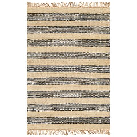 Surya Davidson Navy and Cream Jute Area Rug