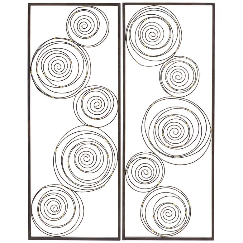 "Metallic Swirl 13 3/4"" x 35 1/2"" Wall Art Set of 2"