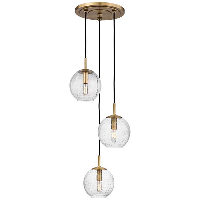 "Rousseau 14 1/4"" Wide Aged Brass Multi-Light Pendant"