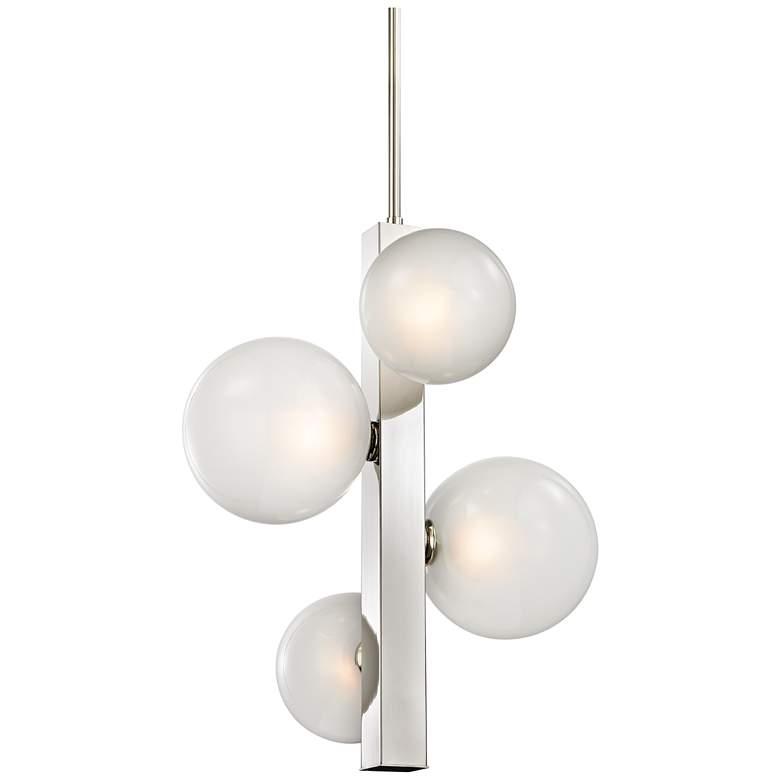 "Hinsdale 21 1/4"" Wide Polished Nickel Pendant Light"
