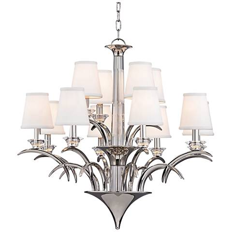 "Marcellus 32 1/2"" Wide Polished Nickel Chandelier"
