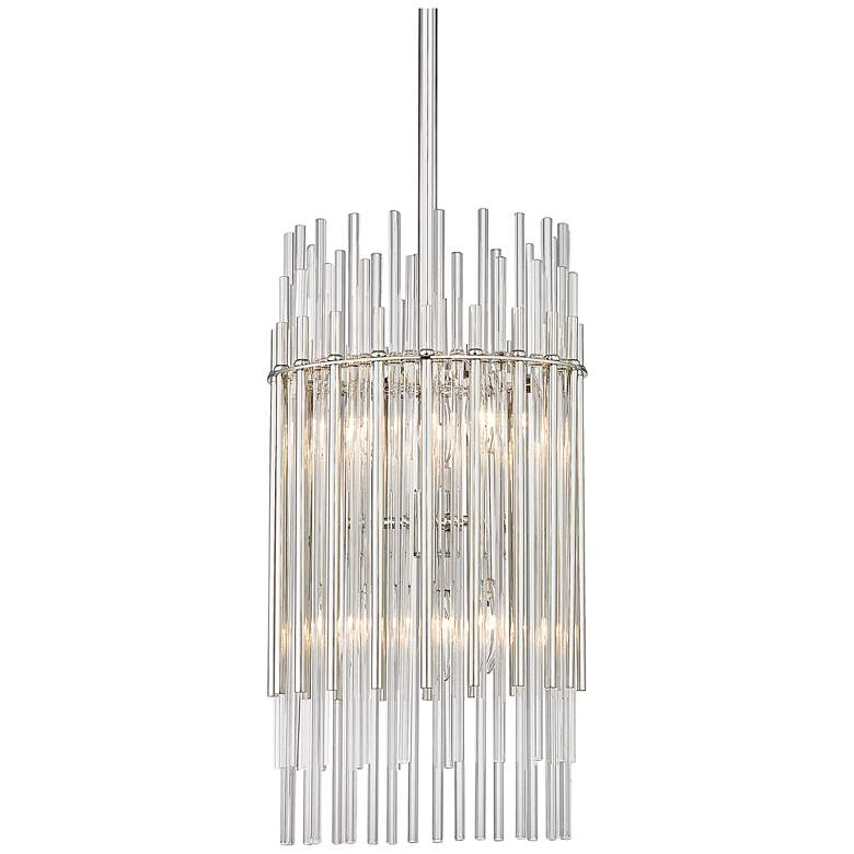 "Wallis 10 1/2"" Wide Polished Nickel Mini Pendant"
