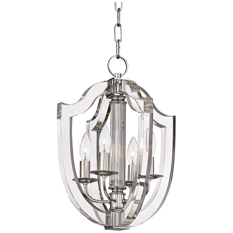"Hudson Valley Arietta 12 1/2""W Polished Nickel Pendant Light"