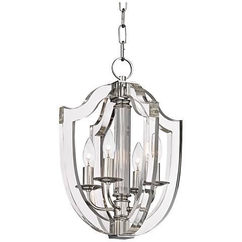 "Hudson Valley Arietta 17"" Wide Polished Nickel Pendant Light"