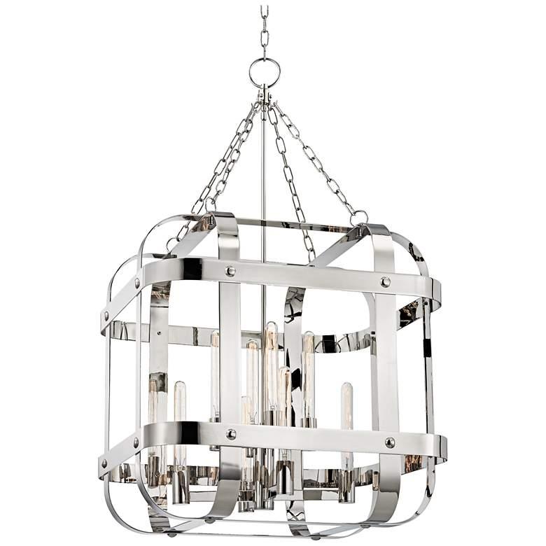 "Colchester 48"" Wide Polished Nickel Pendant Light"
