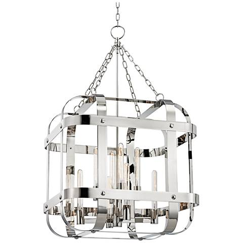 "Colchester 48"" Wide Polished Nickel Pendant Light"