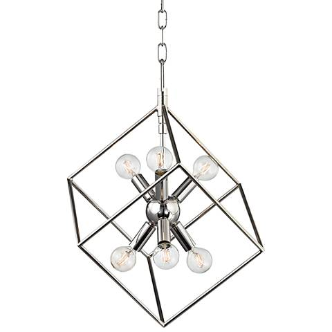 "Roundout 16 3/4"" Wide Polished Nickel Pendant Light"