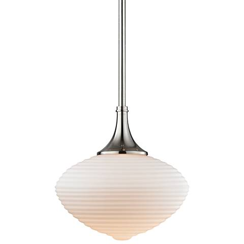 "Hudson Valley Knox 12"" Wide Satin Nickel Mini Pendant"