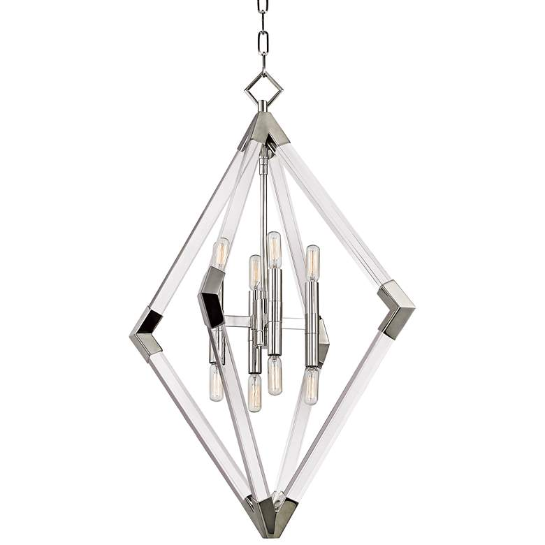 "Lyons 23 1/2"" Wide Polished Nickel Pendant Light"