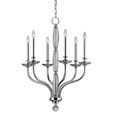 "Lauderhill 28"" Wide Polished Nickel Chandelier"