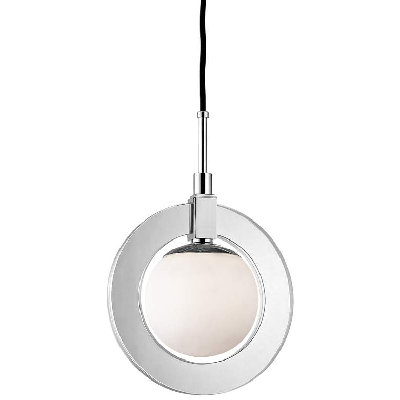 "Caswell 12"" Wide Polished Nickel LED Mini Pendant"