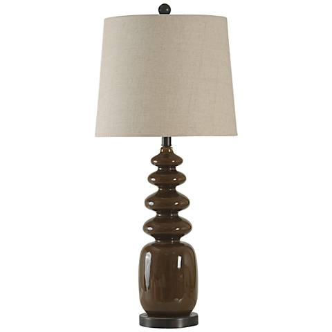 Melody Milk Chocolate Stacked Oval Steel Table Lamp
