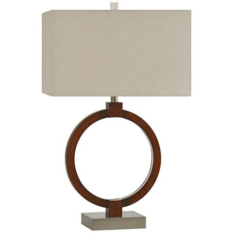 Umarr Rouge Brown Table Lamp with Inner LED Ring