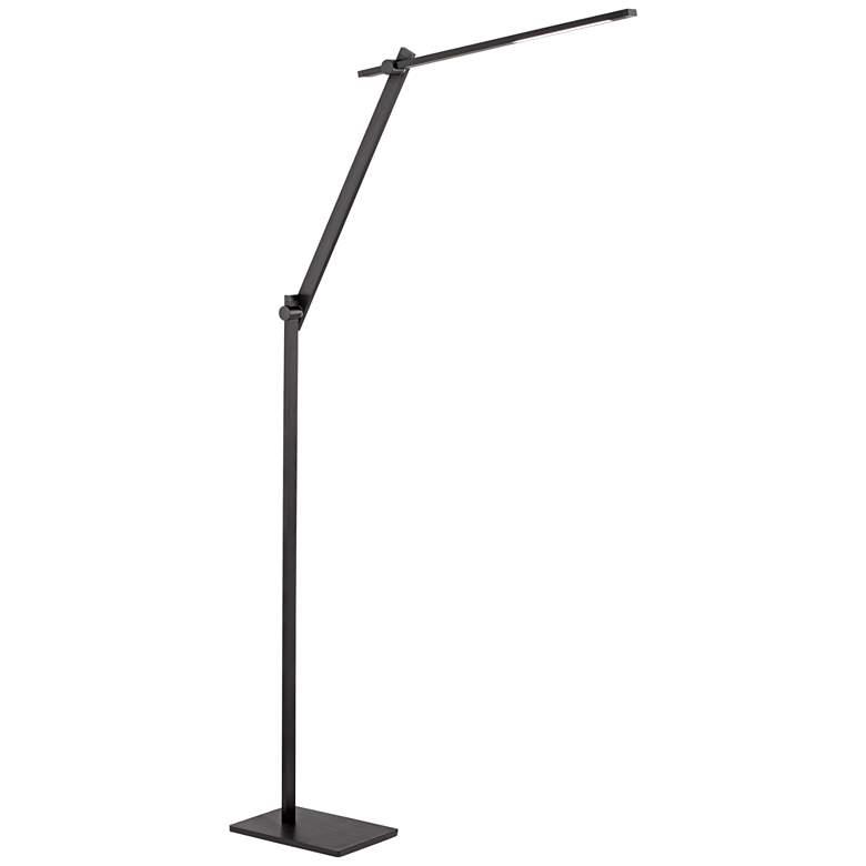 Possini Euro Barrett Anodized Black LED Floor Lamp