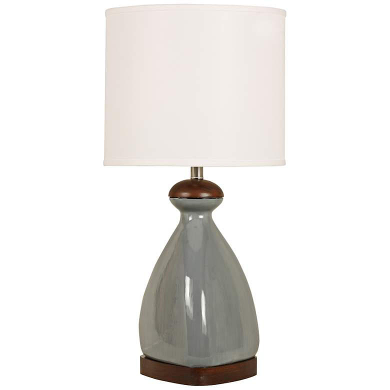 Triangular Smoky Gray Modern Ceramic Table Lamp