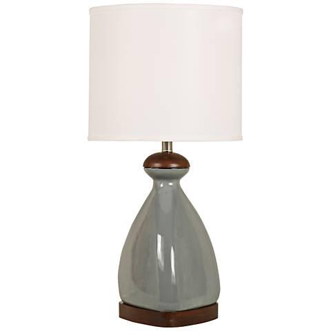 Triangular Teardrop Smoky Gray Ceramic Table Lamp