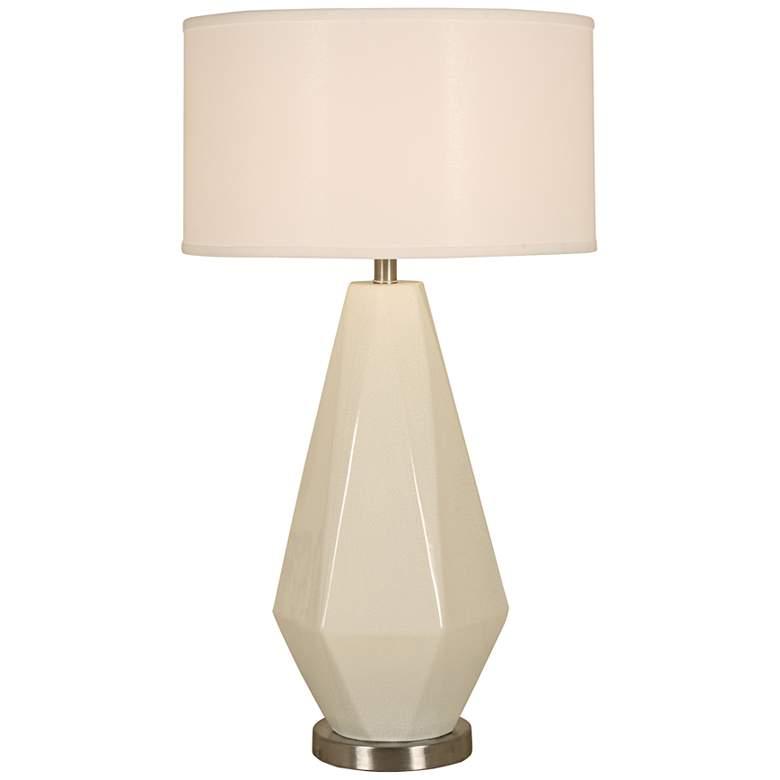 Diamond Crackle Polished Nickel Table Lamp