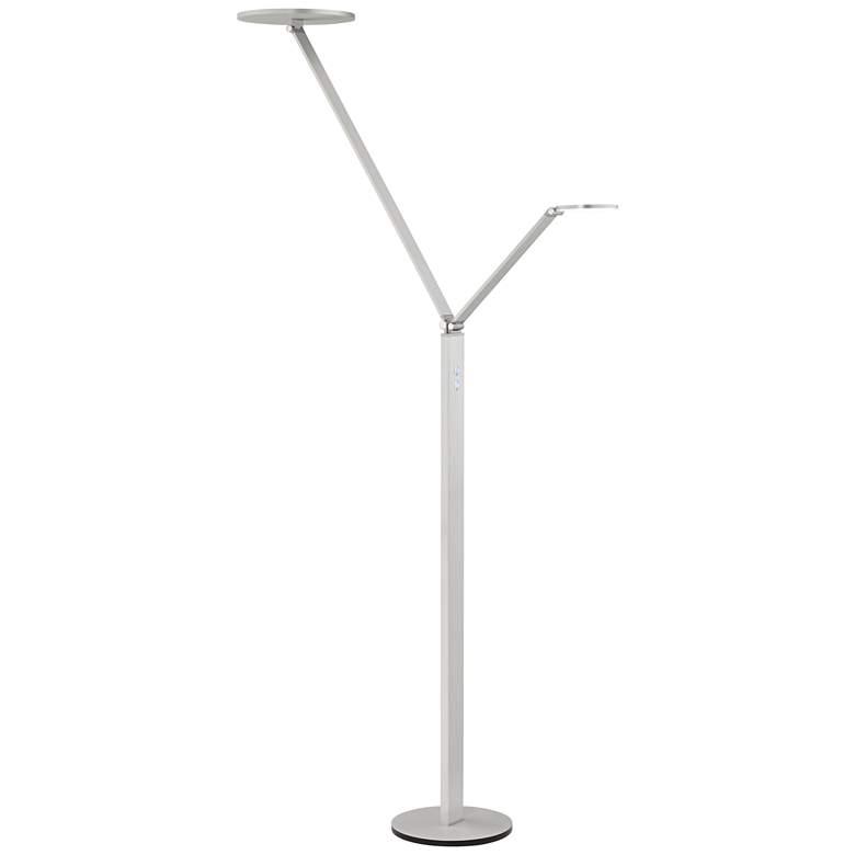 Possini Euro Magnum Aluminum LED Torchiere Floor Lamp