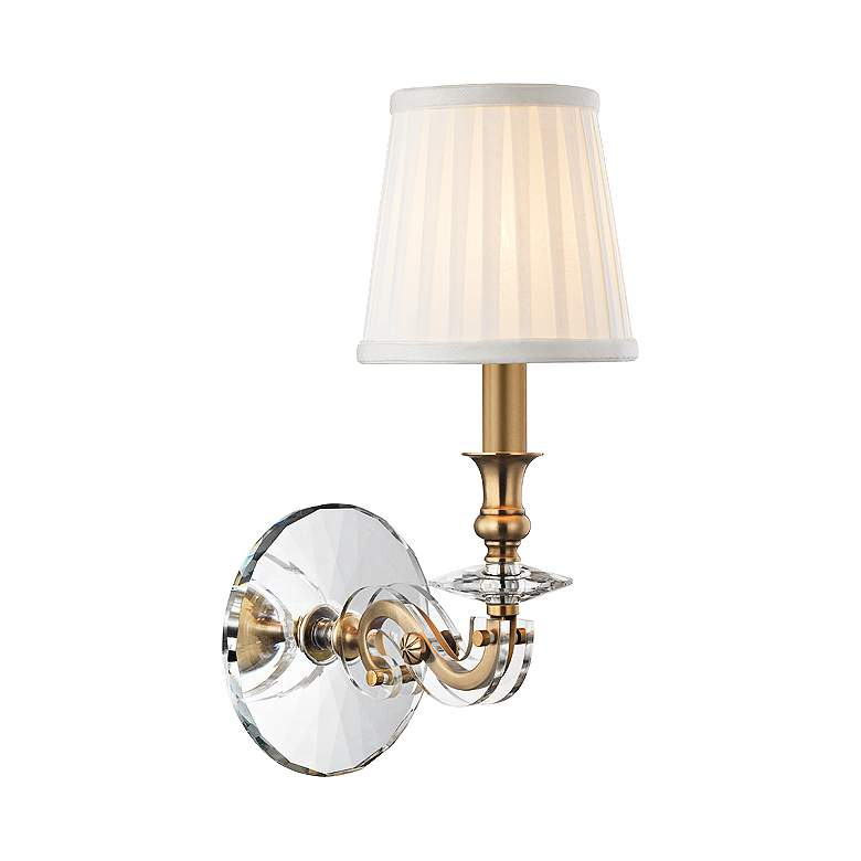"""Lapeer 14"""" High Aged Brass 1-Light Wall Sconce"""