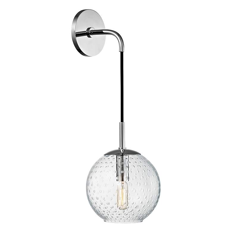 """Hudson Valley Rousseau 14"""" H Polished Chrome Wall Sconce"""