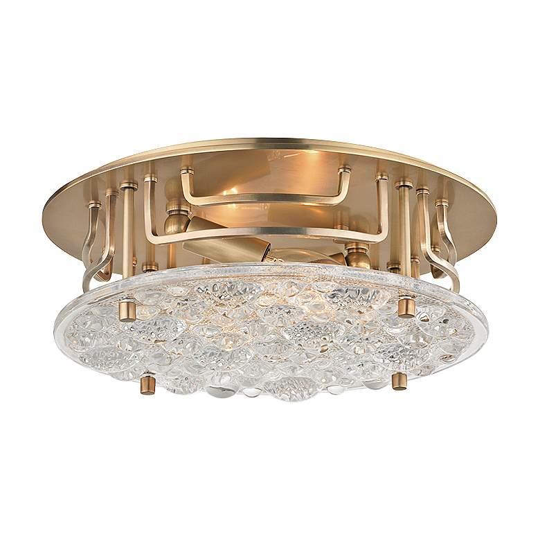"Hudson Valley Holland 11 1/4"" Wide Aged Brass Ceiling Light"