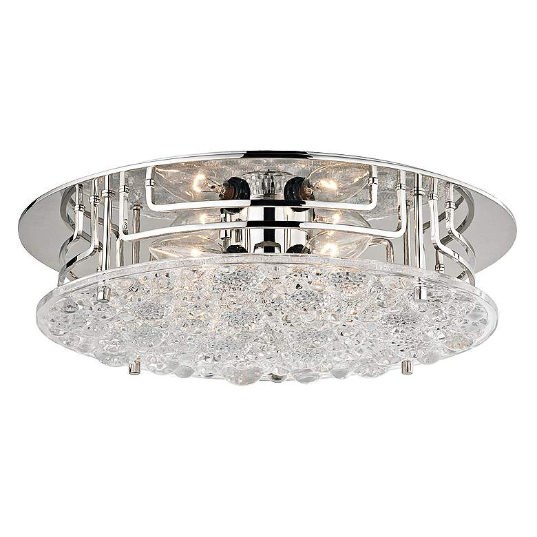"Hudson Valley Holland 15 3/4""W Polished Nickel Ceiling Light"